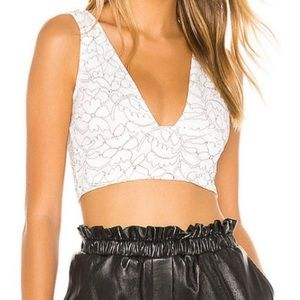 NWT Superdown Floral Crop Top
